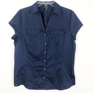 George I Short Sleeve Career Wear Button Down Top